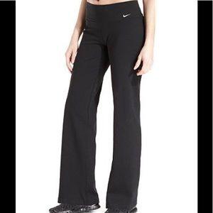 Women's NIKE dri fit cotton boot cut legging pants